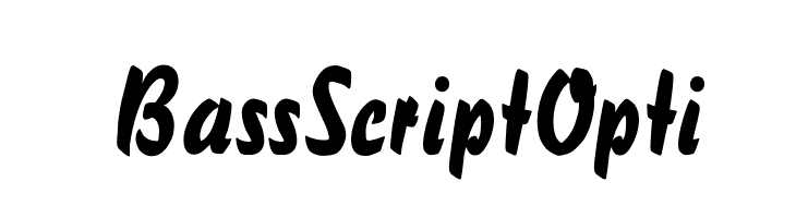 BassScriptOpti  Free Fonts Download