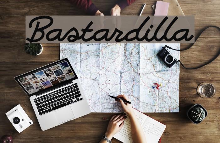 Bastardilla फ़ॉन्ट examples