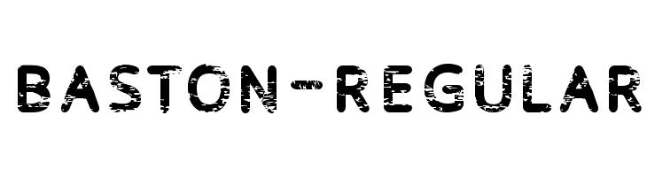 Baston-Regular  नि: शुल्क फ़ॉन्ट्स डाउनलोड