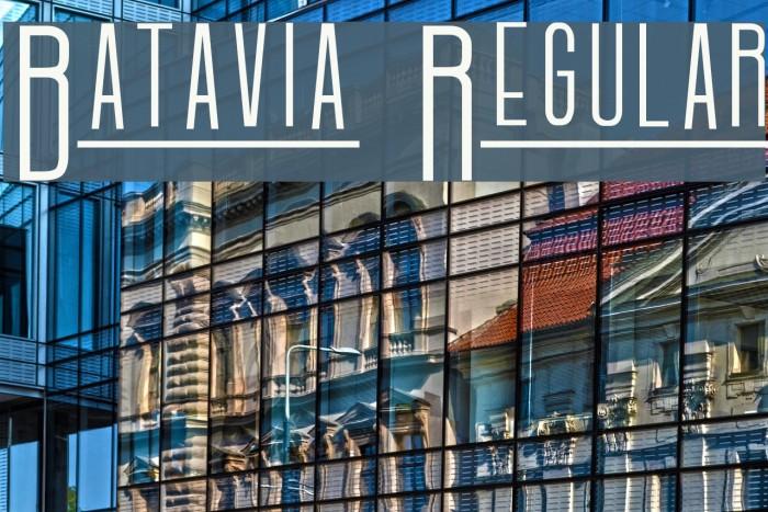 Batavia Regular Font examples