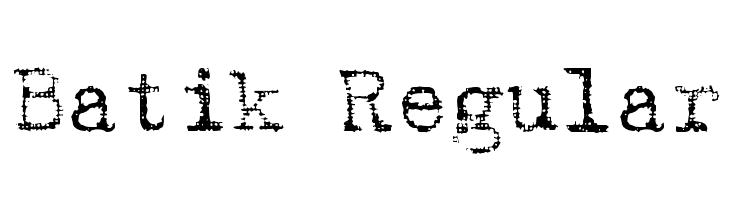 Batik Regular  नि: शुल्क फ़ॉन्ट्स डाउनलोड