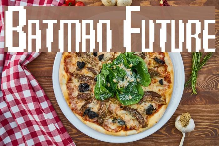 Batman Future Schriftart examples