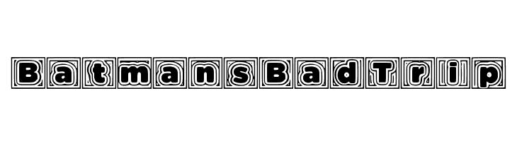 BatmansBadTrip  नि: शुल्क फ़ॉन्ट्स डाउनलोड