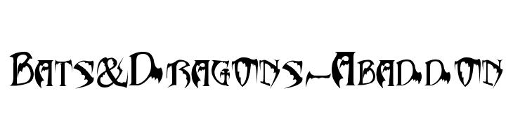Bats&Dragons-Abaddon  नि: शुल्क फ़ॉन्ट्स डाउनलोड