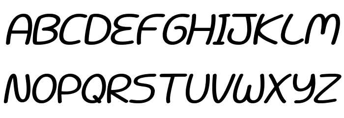 Battenberg and Custard Bold Italic Fonte MAIÚSCULAS
