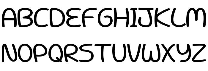 Battenberg and Custard Bold Font UPPERCASE