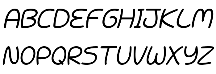 Battenberg and Custard Italic Font UPPERCASE