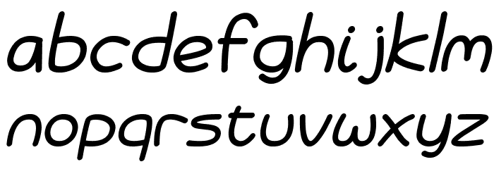 Battenberg and Custard Italic Font LOWERCASE