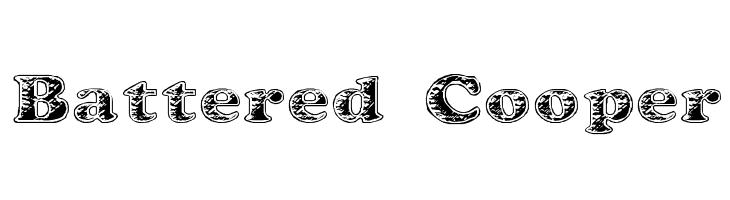 Battered Cooper  नि: शुल्क फ़ॉन्ट्स डाउनलोड