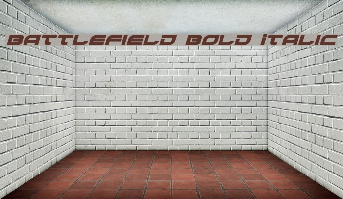 Battlefield Bold Italic Fonte examples