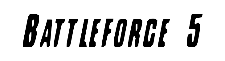 Battleforce 5  Free Fonts Download