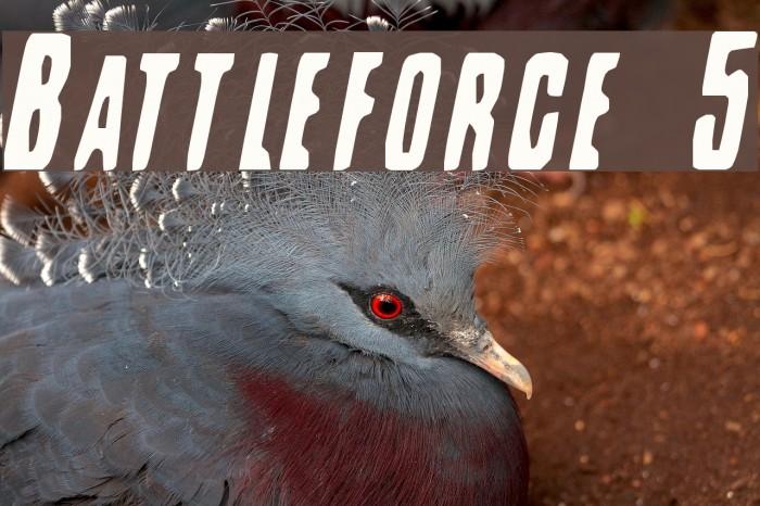 Battleforce 5 फ़ॉन्ट examples