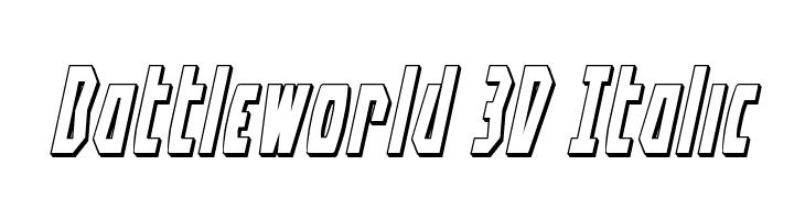 Battleworld 3D Italic Font