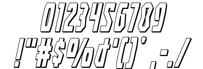 Battleworld 3D Italic Font OTHER CHARS