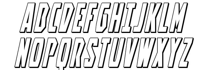 Battleworld 3D Italic Font UPPERCASE