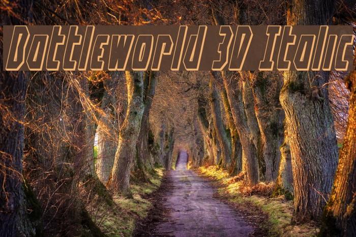 Battleworld 3D Italic Font examples