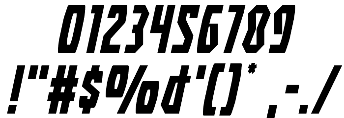 Battleworld Expanded Italic Font OTHER CHARS