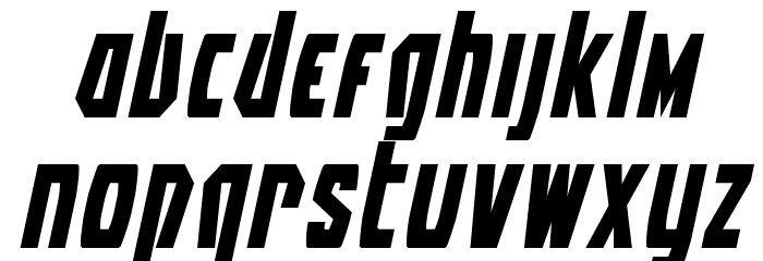Battleworld Expanded Italic Font LOWERCASE