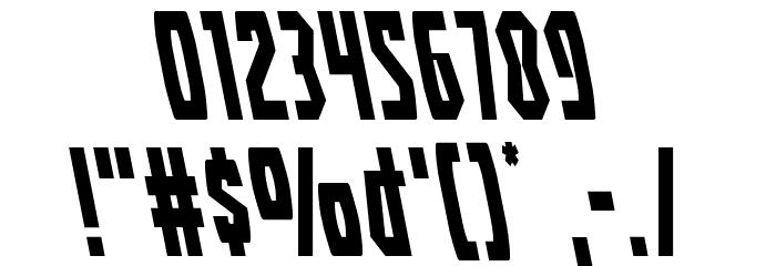 Battleworld Leftalic Font OTHER CHARS