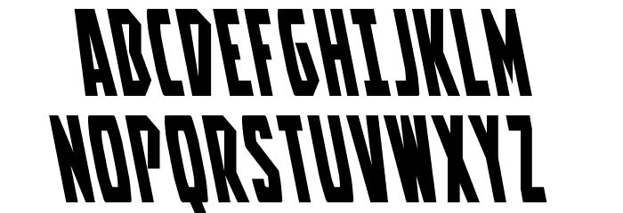 Battleworld Leftalic Font UPPERCASE