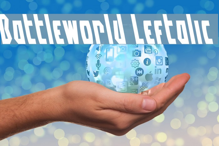 Battleworld Leftalic Font examples