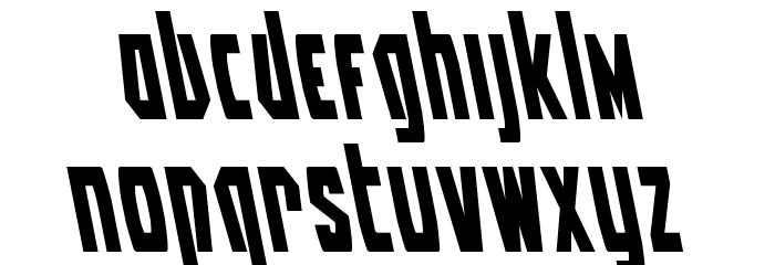 Battleworld Leftalic Font LOWERCASE
