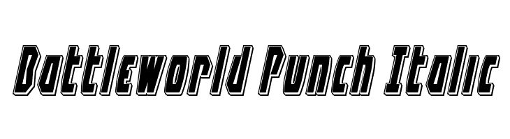 Battleworld Punch Italic  नि: शुल्क फ़ॉन्ट्स डाउनलोड