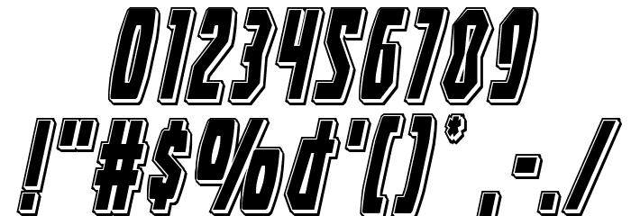 Battleworld Punch Italic Font OTHER CHARS