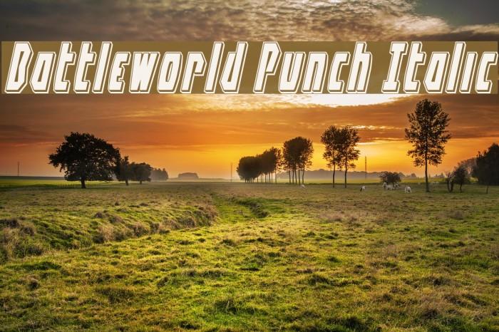Battleworld Punch Italic Font examples