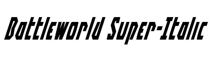 Battleworld Super-Italic  Free Fonts Download