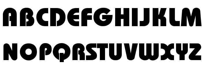 Bauhaus-Heavy-Bold Font UPPERCASE
