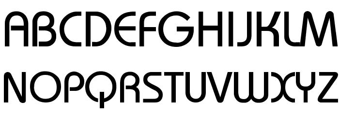 Bauhaus-Thin Font UPPERCASE