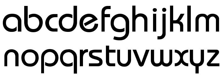 Bauhaus-Thin Font LOWERCASE