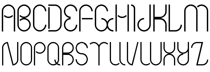 Bauhaus Two Font UPPERCASE