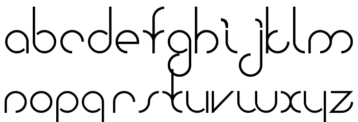 Bauhaus Two Font LOWERCASE