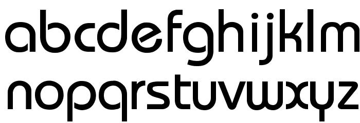 Bauhaus फ़ॉन्ट लोअरकेस