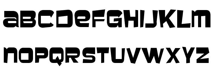Baveuse Font UPPERCASE