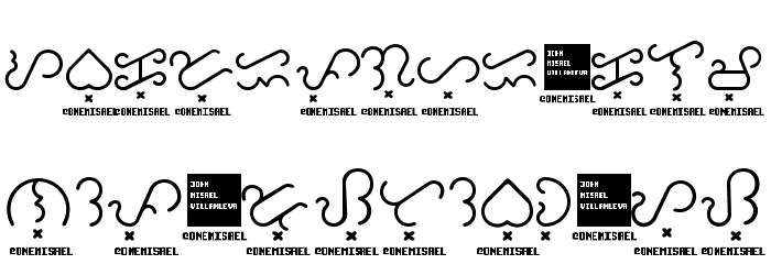 Baybayin Trial Round フォント 大文字