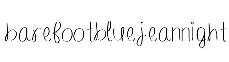 barefootbluejeannight  Free Fonts Download
