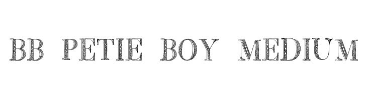 BB Petie Boy Medium Font - free fonts download