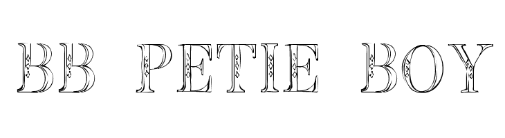 BB Petie Boy  नि: शुल्क फ़ॉन्ट्स डाउनलोड