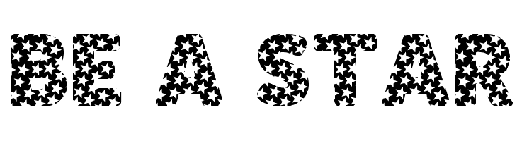 BE A STAR  Free Fonts Download