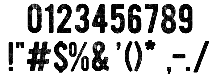 BERNIERDistressed-Regular Font Alte caractere