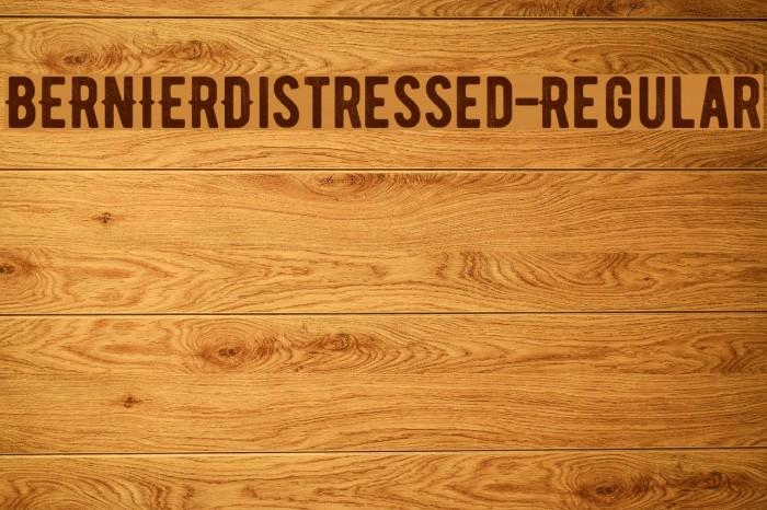 BERNIERDistressed-Regular Font examples