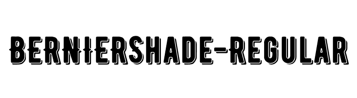 BERNIERShade-Regular  Free Fonts Download