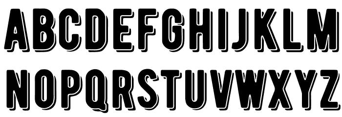 BERNIERShade-Regular Font Litere mici