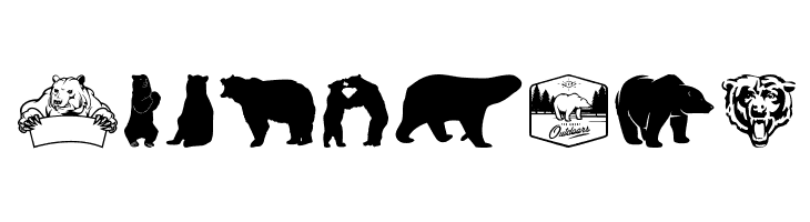 Bear Icons  Free Fonts Download