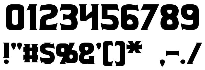 Beastformer Font OTHER CHARS