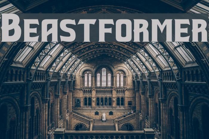Beastformer Font examples