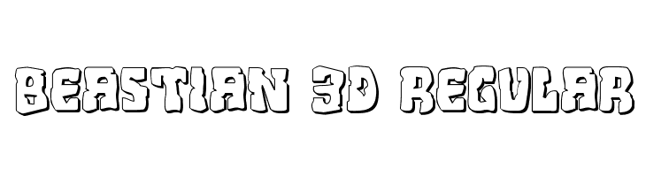 Beastian 3D Regular  baixar fontes gratis